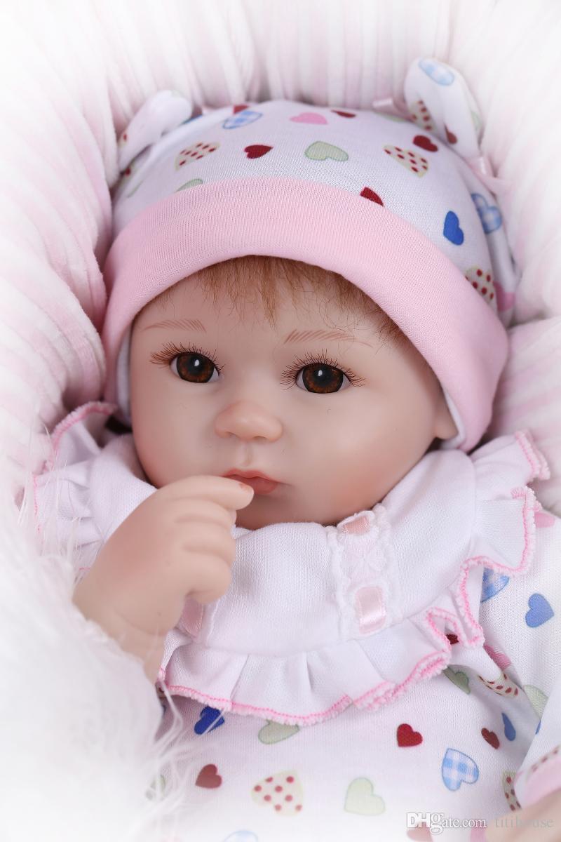 Bambola del bambino rinato realistico da 18 pollici handmade morbido silicone neonato neonati realistico ragazza bambini compleanno regali di Natale