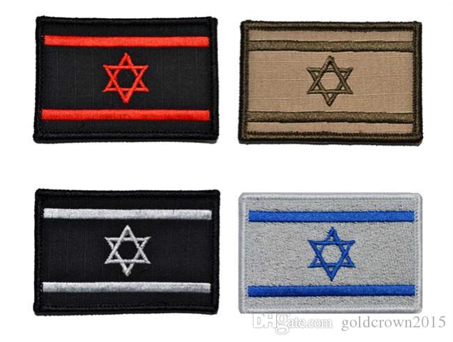 Embroidered Israel Flag Badge Tactical 3d Badges Combat Badge Fabric National Flags Armband Badges Badges