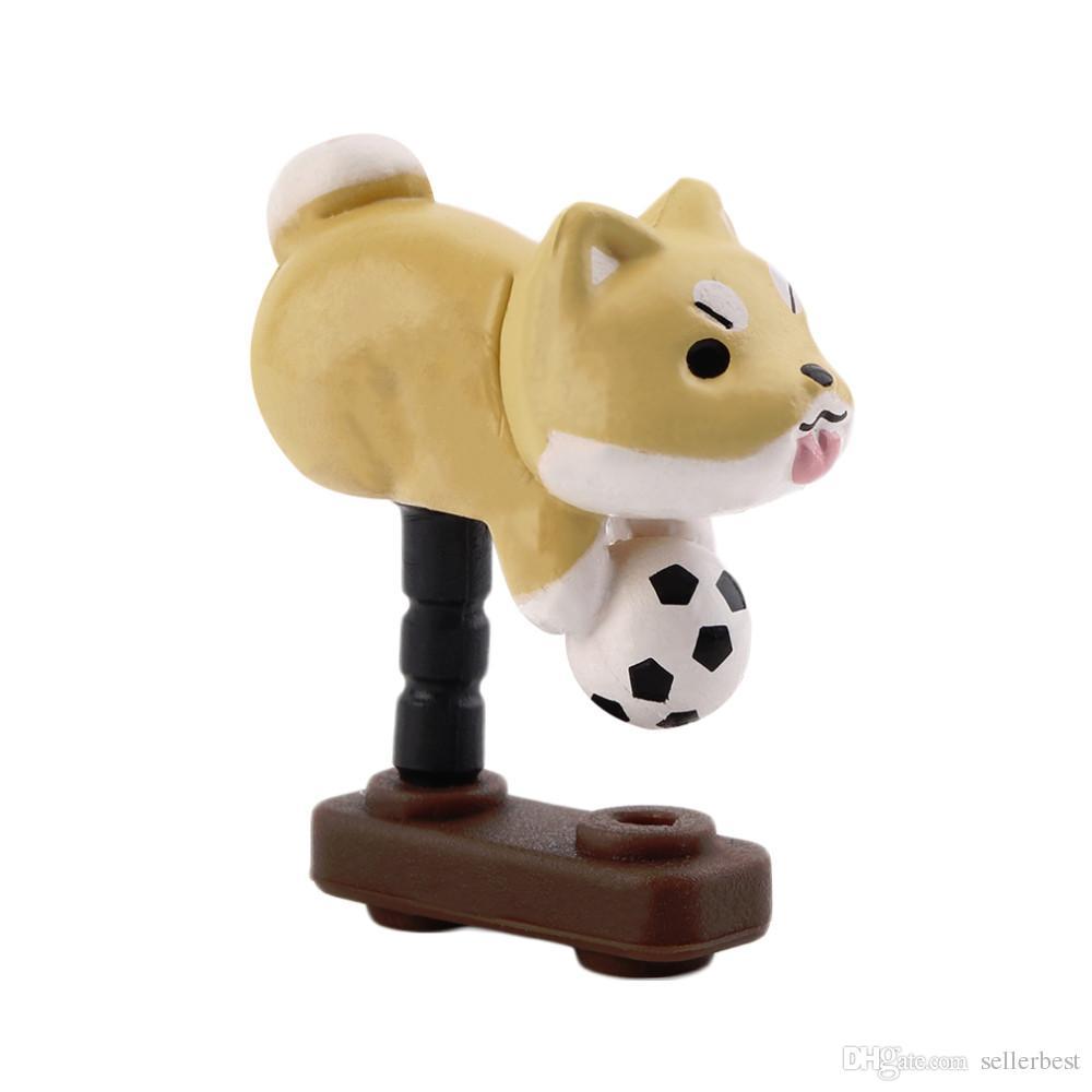 Niconico Nekomura Universale Carino Cucciolo di Cane 3.5mm Antipolvere Auricolare Jack Plug Tappo Tappo Il Telefono Ear Dock Accessorio All'ingrosso