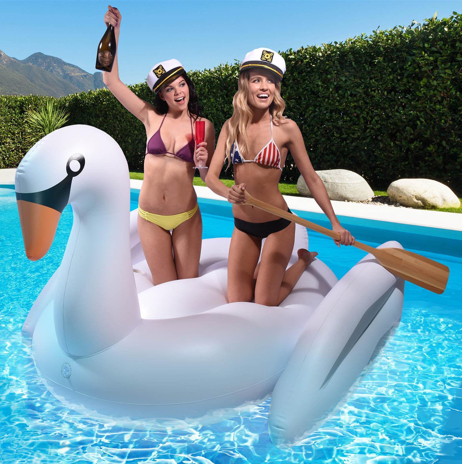 2019 2016 Swan Voyage Giant Inflatable Swan Pool Float