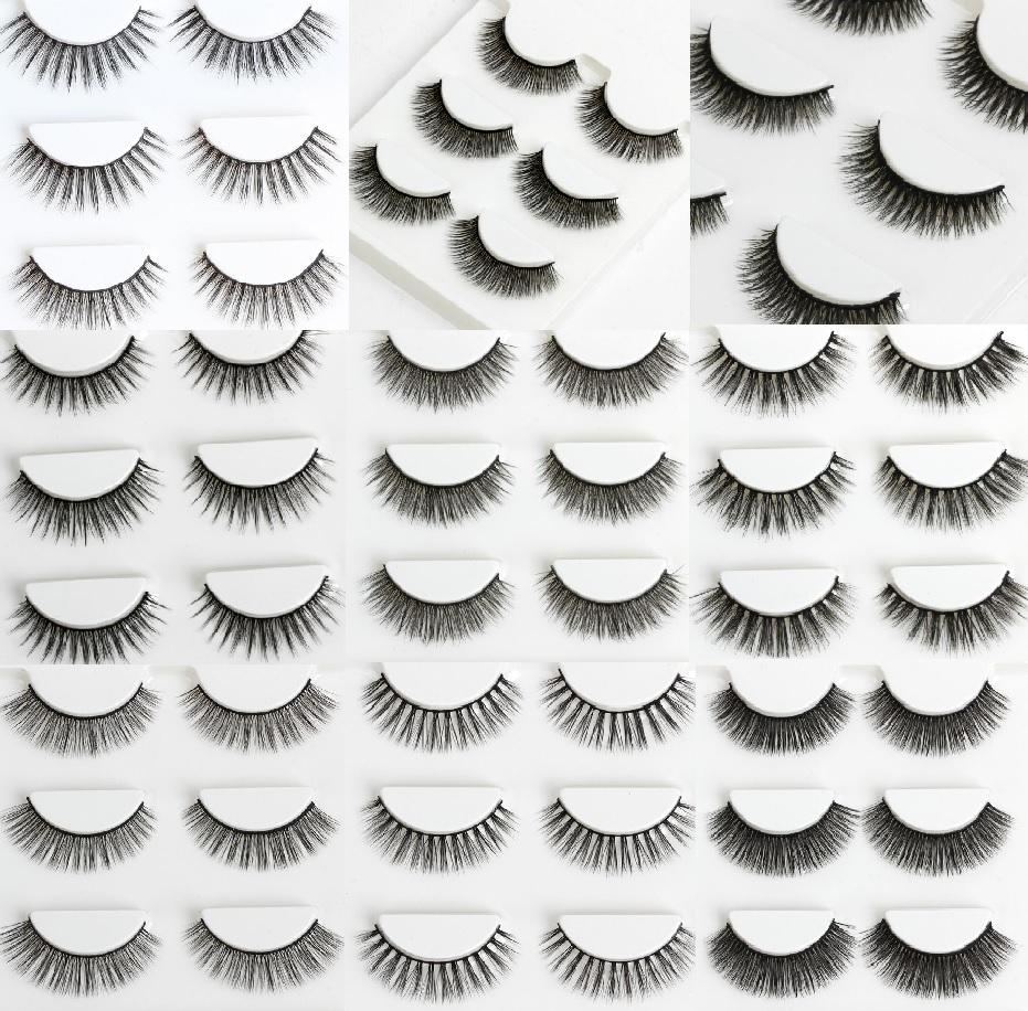 Fashion 3d False Eyelashes 30 Kinds Of Natural Or Thick Fashion Lash