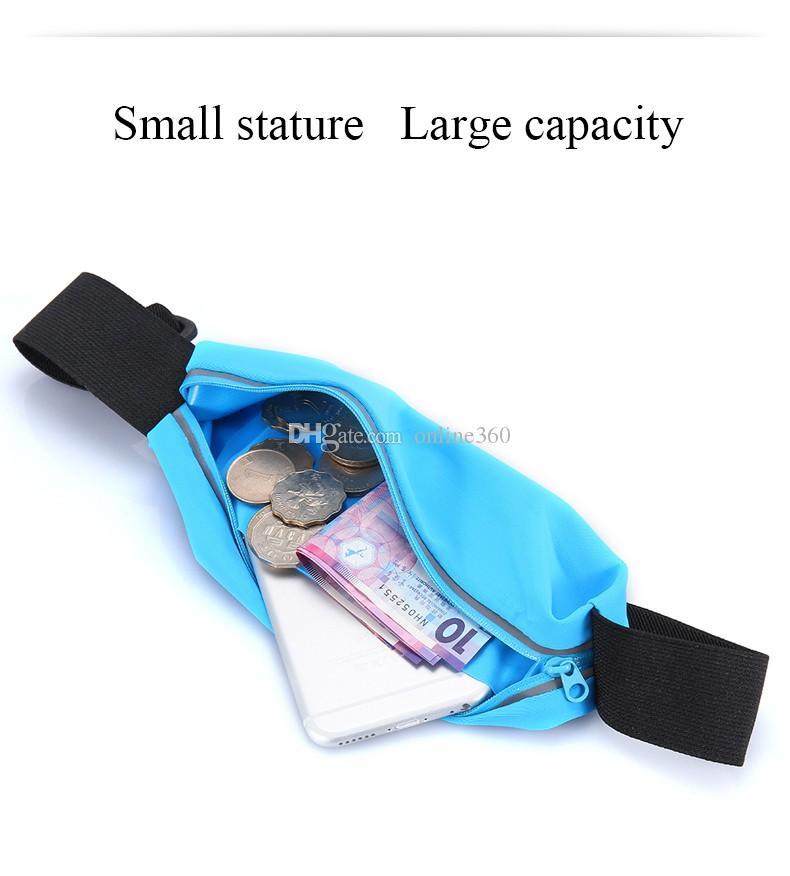 يونيفرسال سبورتس ماء جيوب الهاتف الخصر حزام سوار حقيبة الحالات الحقيبة لفون 6 زائد سامسونج غالاكسي s5 S6 حافة
