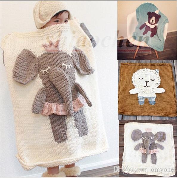 Compre Caliente Niños Crochet Swaddles 3d Ins Manta Envueltos ...