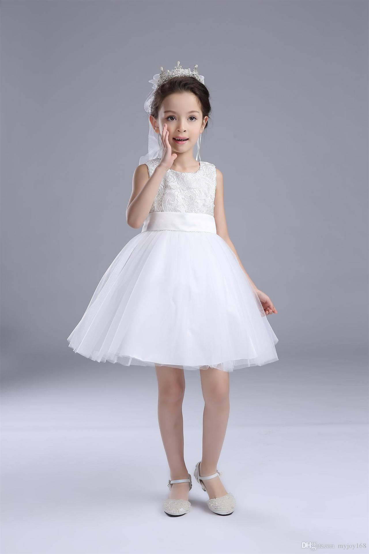 Baby Girl Children S Clothing Wedding Dress Princess Bridesmaid ...