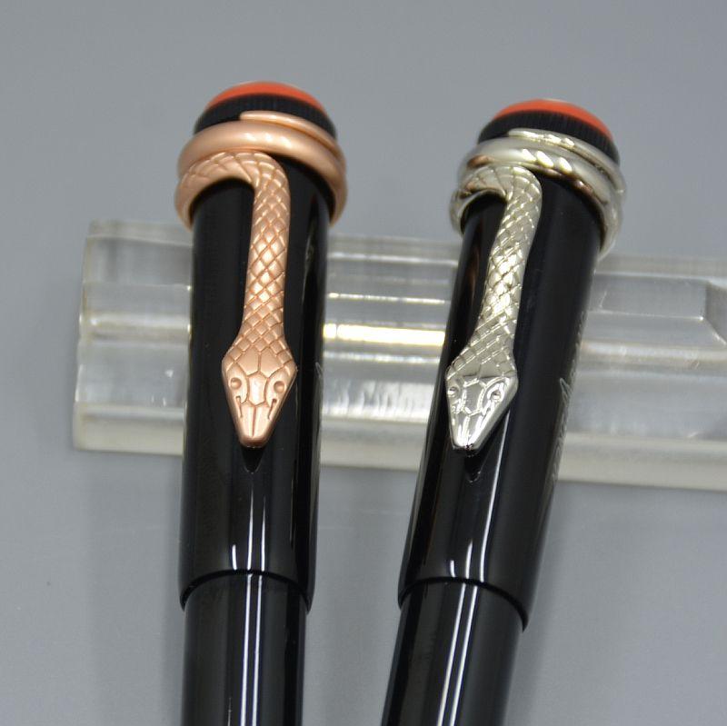 de haute qualité serpent clip stylo roller / stylo à bille bonne papeterie de bureau Stylos uniques d'écriture cadeaux