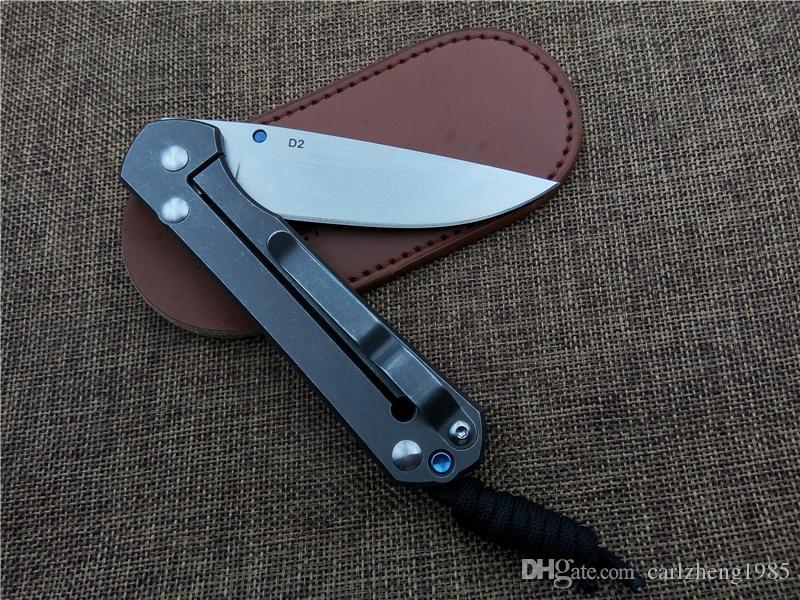 New Chris Reeve Grande Sebenza faca Dobrável De Fibra De Carbono lidar com D2 lâmina de acampamento de caça ao ar livre faca de sobrevivência Utilitário bolso faca EDC