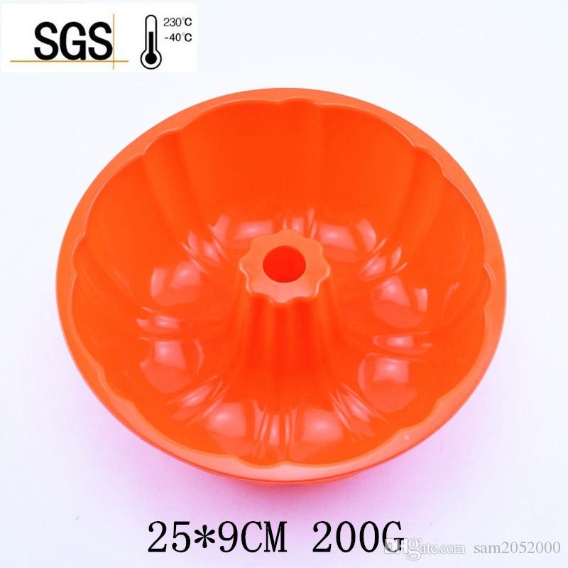 25*9CM 200G 2016 Hot Sell Big and Beautiful Pumpkin Shape Silicone Cake Mold is The Best For Baking and Pastry cake maker