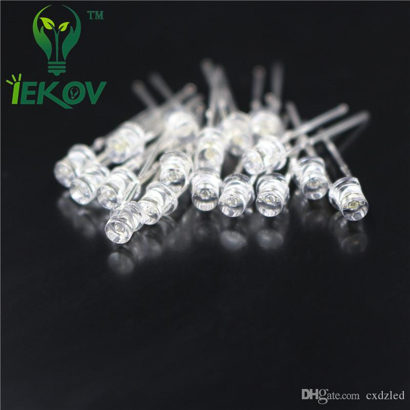 High Quality /bag 3MM Flat Top Orange/Amber leds Urtal Bright Wide Angle light Emitting Diode Electronic Components Wholesale Retail