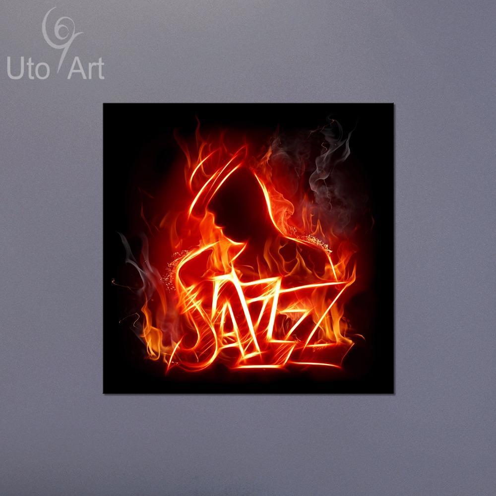 Acheter Décor De Mur Moderne Toile Peinture Jazz Musique Art Print