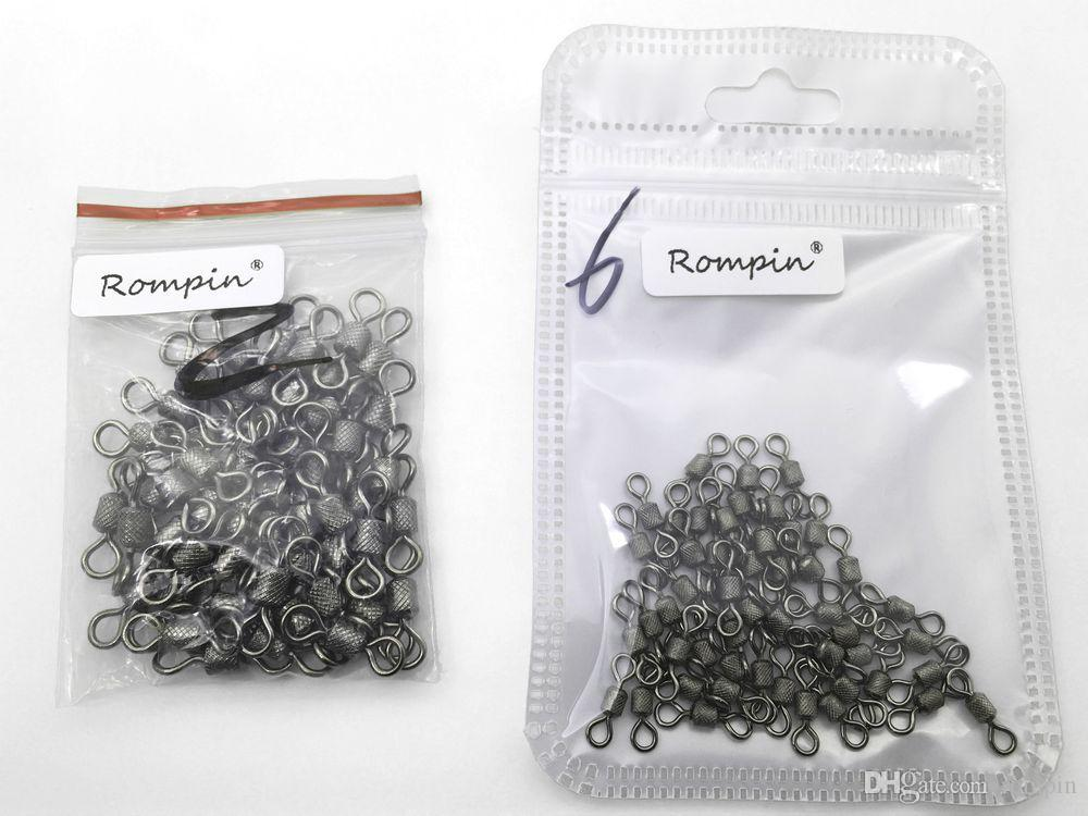Rompin fishing swivels Ball Bearing swivel with safety snap solid rings rolling swivel for carp fishing accessories
