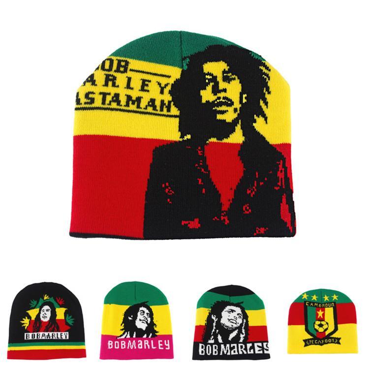 31d9bea522e Bob Marley Rasta Hats New Fashion Winter Jamaica Knitted Tams Fancy Dress  Costumes Crochet Rasta Beanies Gorro Hat Cap Beard Beanie Beanie Kids From  ...