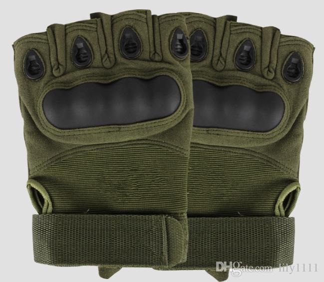حرية الملاحة في الرياضة أصابع العسكرية التكتيكية الادسنس الصيد الدراجات الدراجة قفازات قفازات نصف الاصبع 3 اللون