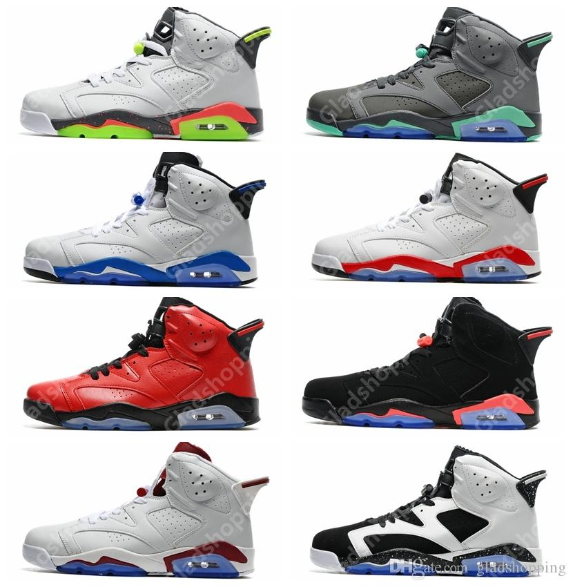 new arrivals f0d5a 3fc27 Acheter Pas Cher 6 Hasta Vert Glow Sport Bleu Infrarouge Carmine Olympique  Maroon Oreo Basketball Chaussures Sneakers Femmes Hommes 6 S VI Sport  Chaussures ...