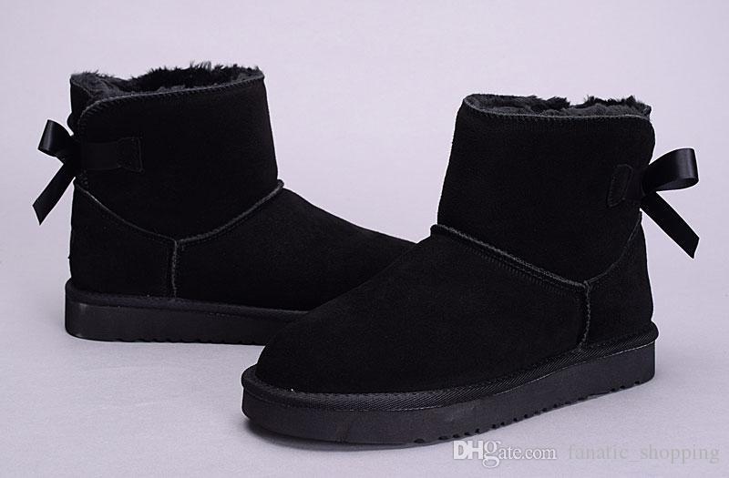 UGG Boots Nouvelle Femmes Australie Classic bottes à genoux Bottines Noir Gris châtain bleu marine Femmes Bottes fille Taille US 5-10