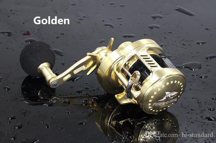 HOT HG200 9 + 1BB Carrete de baitcasting izquierdo / derecho. Carretes de pesca dorado / plateado. Todos los metales ¡Alta calidad! DDL