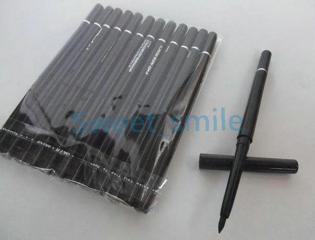 VENTA CALIENTE Rotary Retractable Black Gel Eyeliner Beauty Pen Lápiz Delineador de Ojos Cosméticos Impermeables Envío Gratis