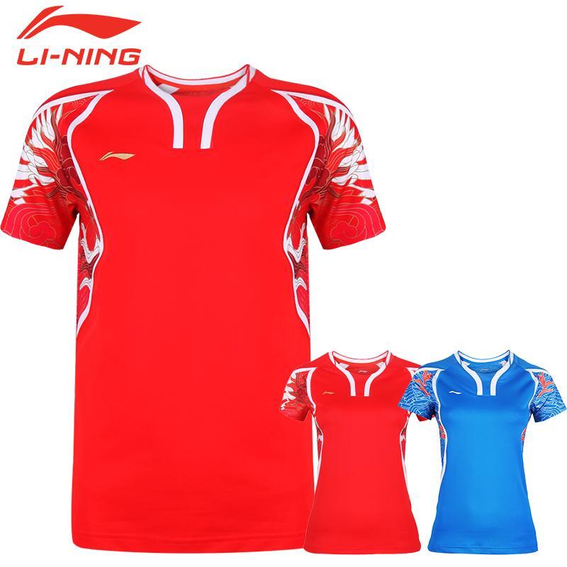 2019 chinese dragon li ning badminton shirt polyester quick dry