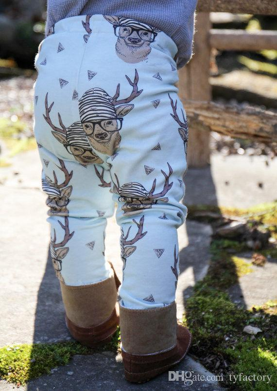 christmas gift best kids boys girls Toddler Baby little Boy Girl Soft Harem casual Pants deer printed Trousers Bottom Leggings