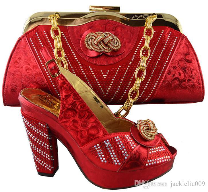 Neue Mode Himmelblau afrikanische Dame High Heel Schuhe und Handtasche mit Strass für Party B8022, Ferse 10,5 cm