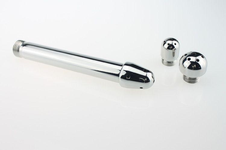 Anal Plug Sexspielzeug Dusche Klistier Wasser Düse 3 stil Stecker Kopf Klistier Anal Reinigung Kit / Wasserhahn