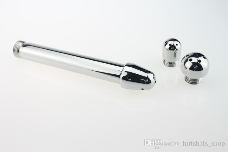 Plug Anal Juguetes Sexuales Ducha Enema Boquilla de Agua 3 estilo Plug Head Enema Anal Kit de Limpieza / Faucet