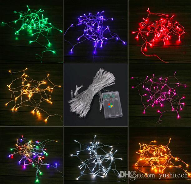 Dhl Free 4m 10m Led Christmas Light 3xaa Battery Operated Portable Led String Light Fairy Party Home Garden Decorate Lighting