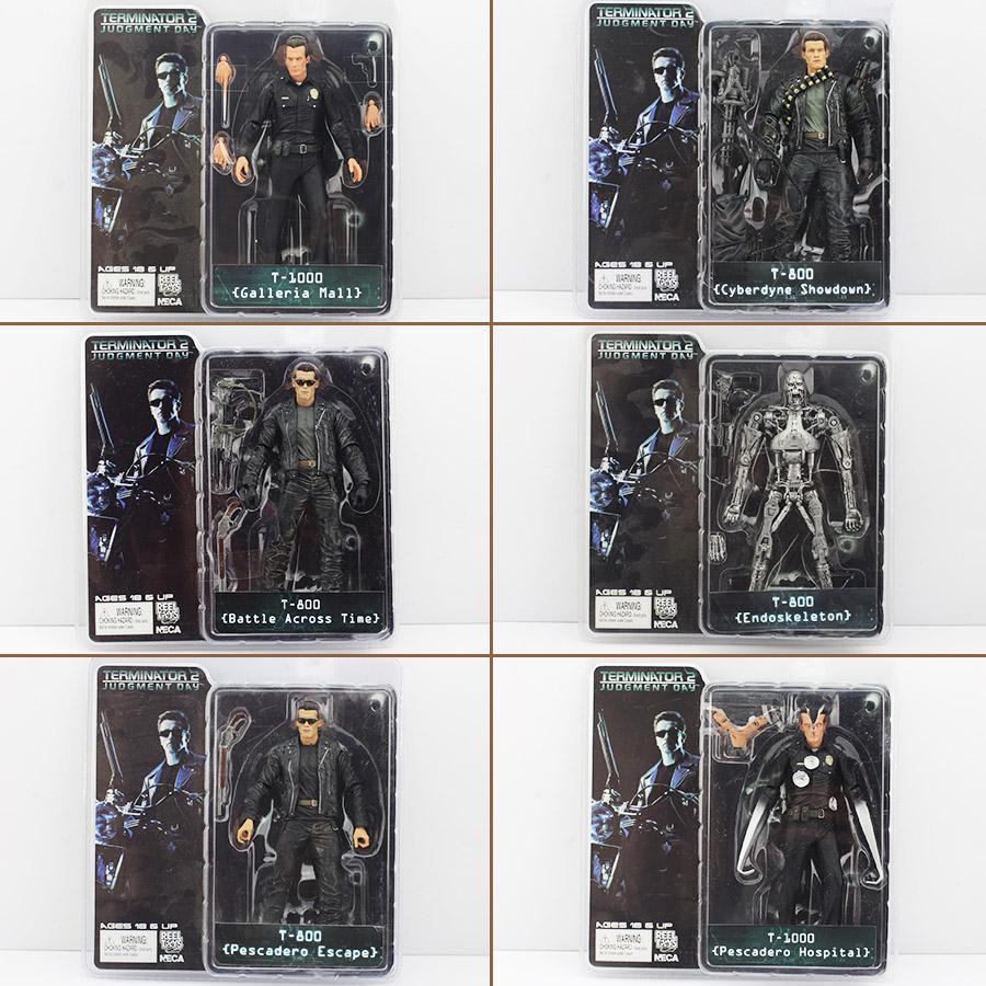Venta caliente NECA The Terminator 2 Figura de Acción ENDOSKELETON Figura de juguete Modelo de Colección Modelo 6Styles envío gratis EL CCSME