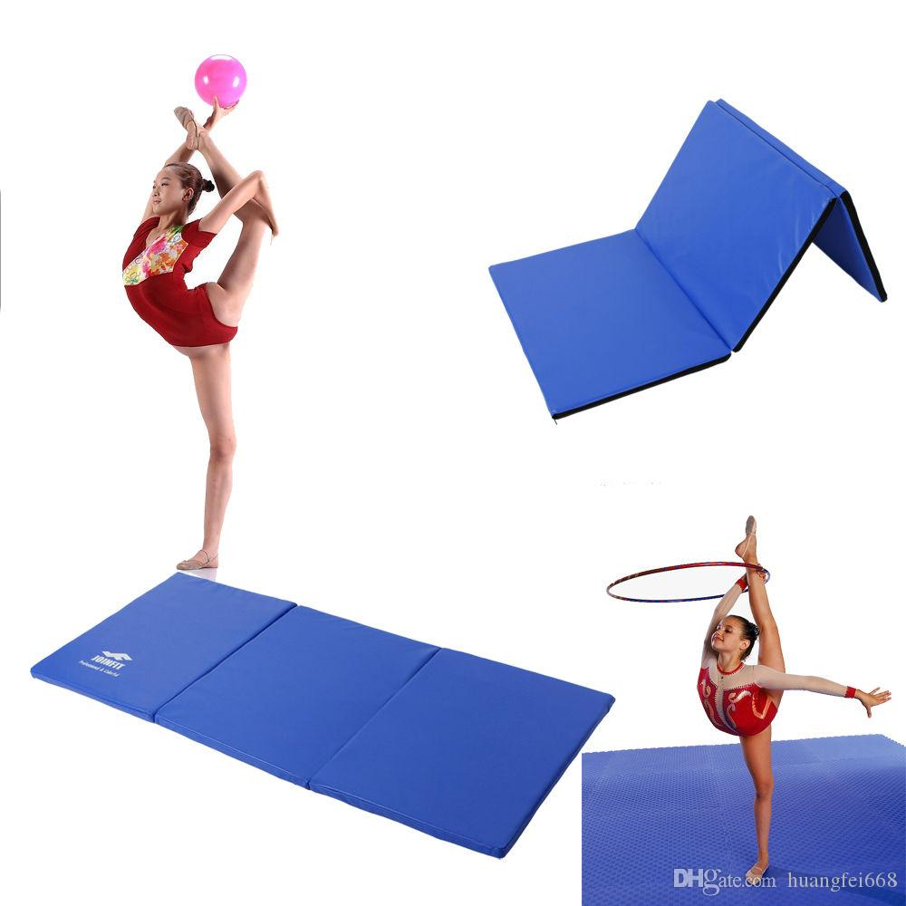 ip com blue mat folding gym gymnastics aerobics choice walmart best exercise yoga stretching products mats