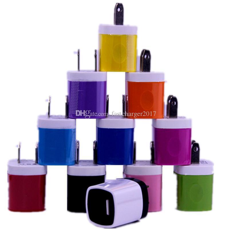 Ładowarka ścienna 5 V 1000mAh 1a EU US Zasilacz Adapter dla iPhone Samsung Blackberry HTC Mobile Telefon GPS MP3
