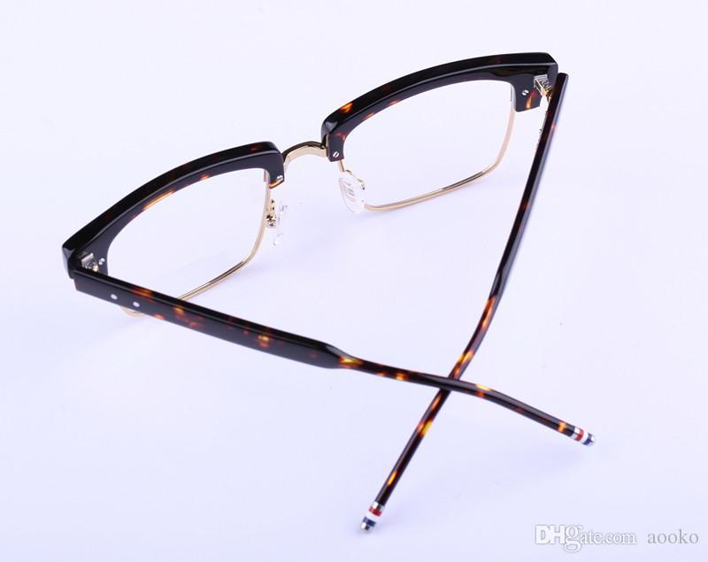 wholesale myopia Hyperopia Reading Brand New York Brand TB806 Eyeglasses Frames Retro Fashion style metal half frame eye glasses spectacles