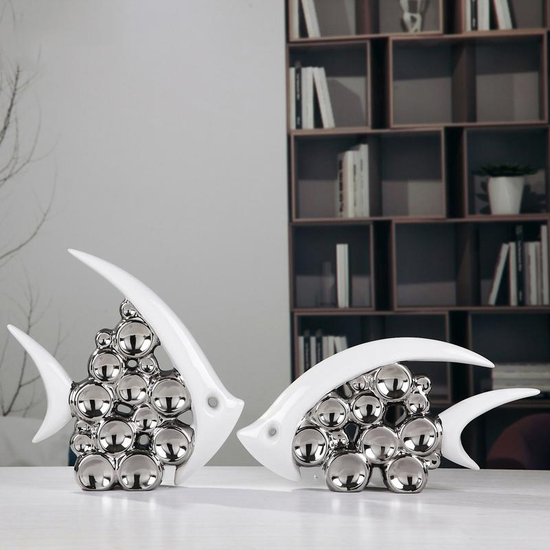 Bouble Couple Kiss Fish Vase Modern Ceramic Furnishing Articles For Living Room  Home Decoration Silver Bubble Comedy Gifts For Men Comedy Gifts For Women  ...