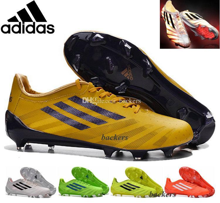 Compre Original Adidas F50 Adizero TRX FG Botas Homens Futebol Grampos  Sapatos Baratos Externas Original Football Sneakers Lightweight 2014 Branco  Verde De ... d294fd55806d2