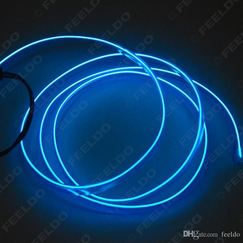 FEELDO 1M 9 색 유연한 몰딩 EL 네온 글로우 조명 로프 스트립 자동차 장식 핀 # 3267