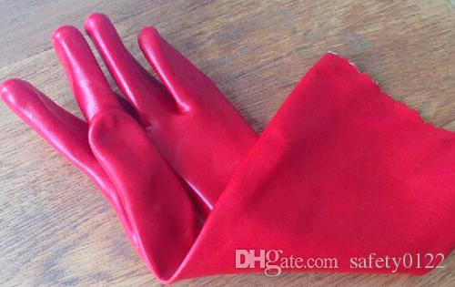 40cm Lengthening Oil Resistant Glove Waterproof Protective PVC Industrial Safety Glove Chemical PVC Working Security Glove