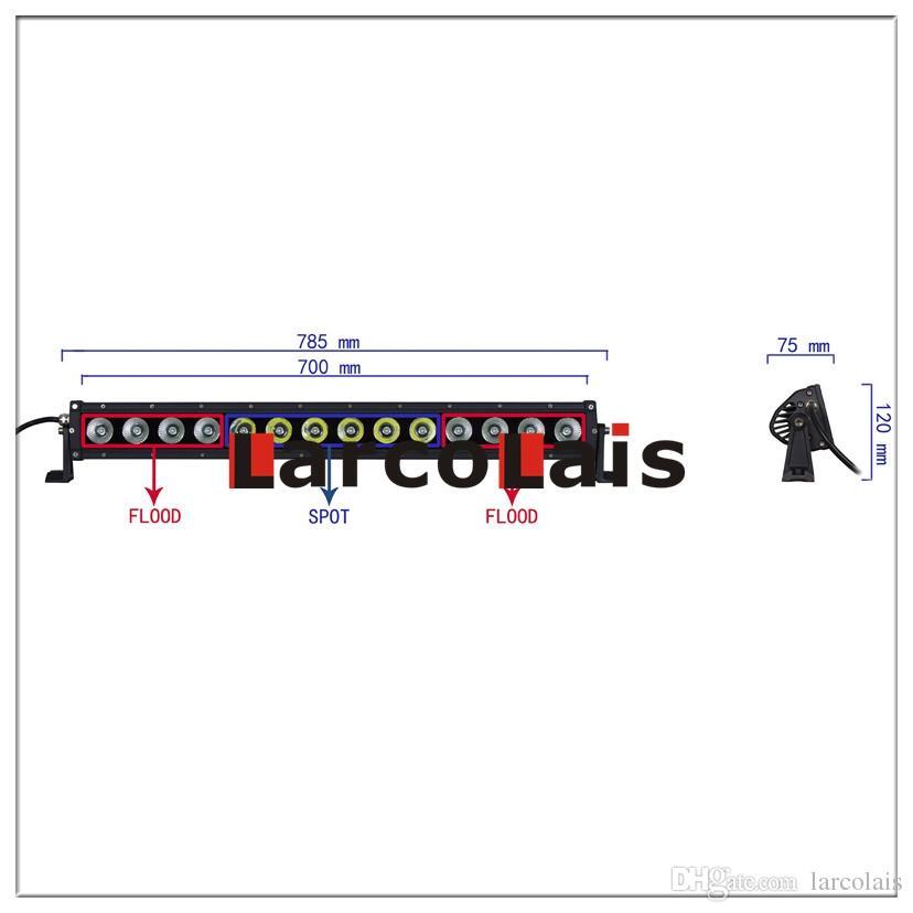 Larcolais 31 Zoll 140w Combo Beam Cree LED Lichtleiste Motor 4x4 SUV ATV Offroad Fahren Arbeit Nebelscheinwerfer
