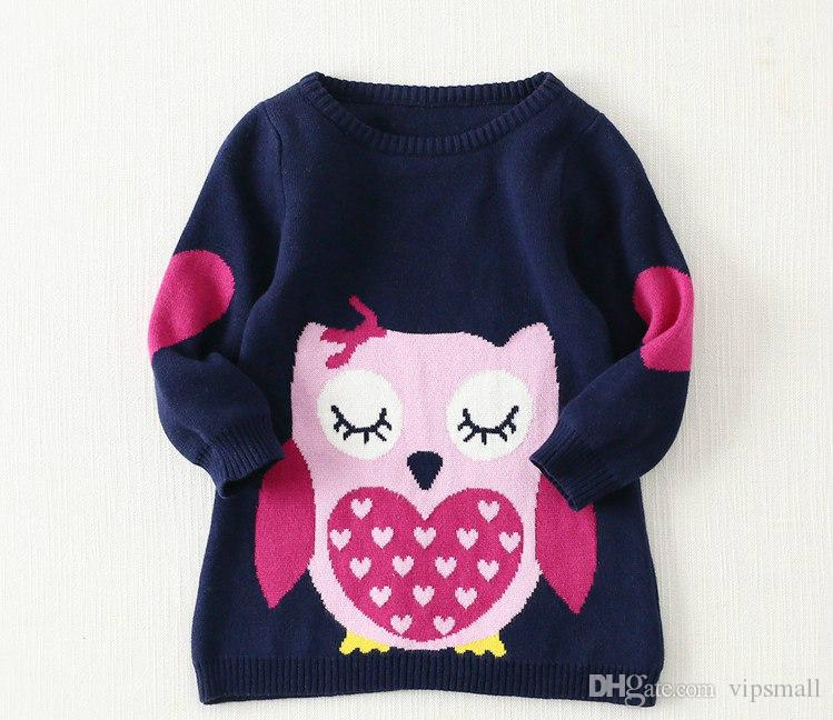 Sweaters design for baby girl for Owl fish clothing