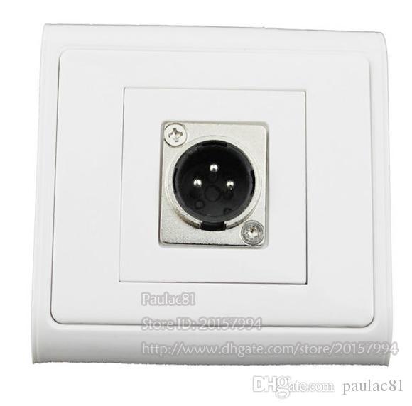 Haute Qualité Canon Module Single-Port Panneau Microphone XLR 3Pin Mâle Prise Panneau Panneau Pour Plaque Murale / Livraison Gratuite /