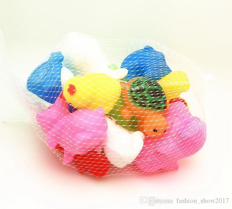 Детские Животные Интересные Ванны Игрушки Дети Мягкие Резиновые Воды Игрушки Дети Распыления Squeeze Младенческой Плавать Игрушка