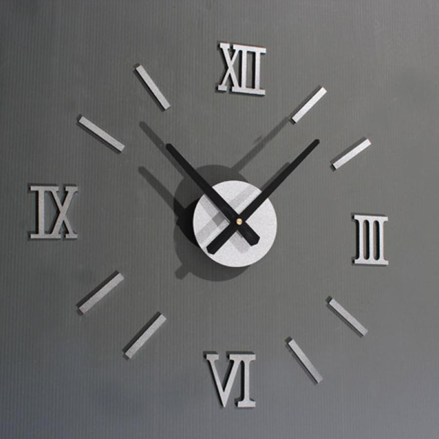 Clock Wall Art super deal roman numerals diy wall clock home wall stickers