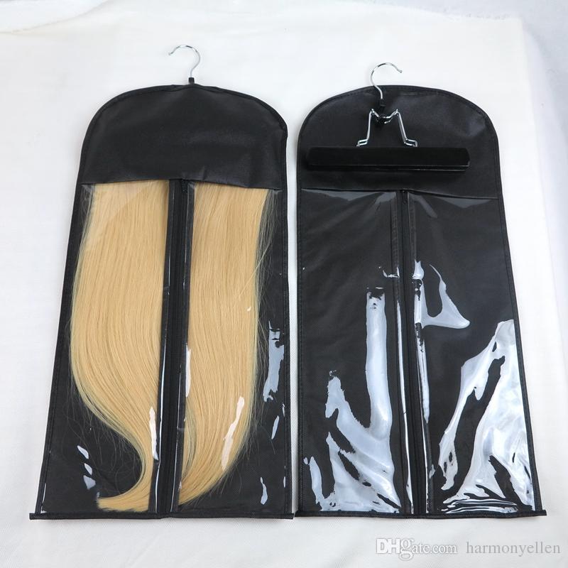 Vorrat in den Haar-Erweiterungen Aufbewahrungsbeutel-Träger-Klage-Kasten-Tasche mit Aufhänger für verpackendes Jungfrau-Haar-Klipp in den Haar-Erweiterungen