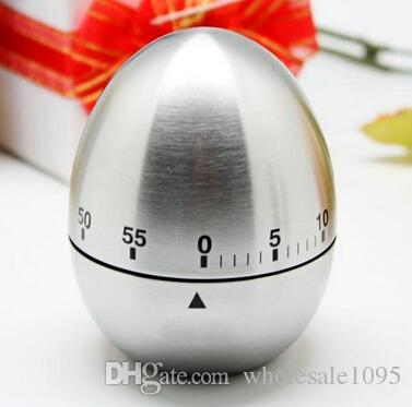 Apple Egg Mechanical Egg Kitchen Cooking Timer Alarm 60 Minutes Stainless Steel YH050