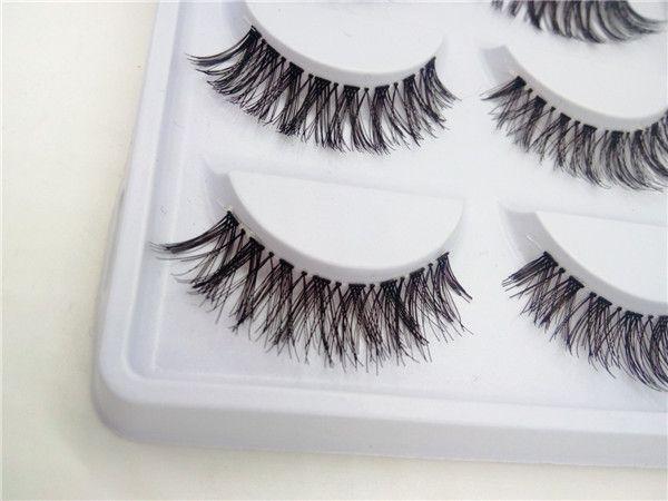 NEW /Transparent False Eyelashes Messy Cross Thick Natural Fake Eye Lashes Professional Makeup Tips Bigeye Long False Eye Lashes