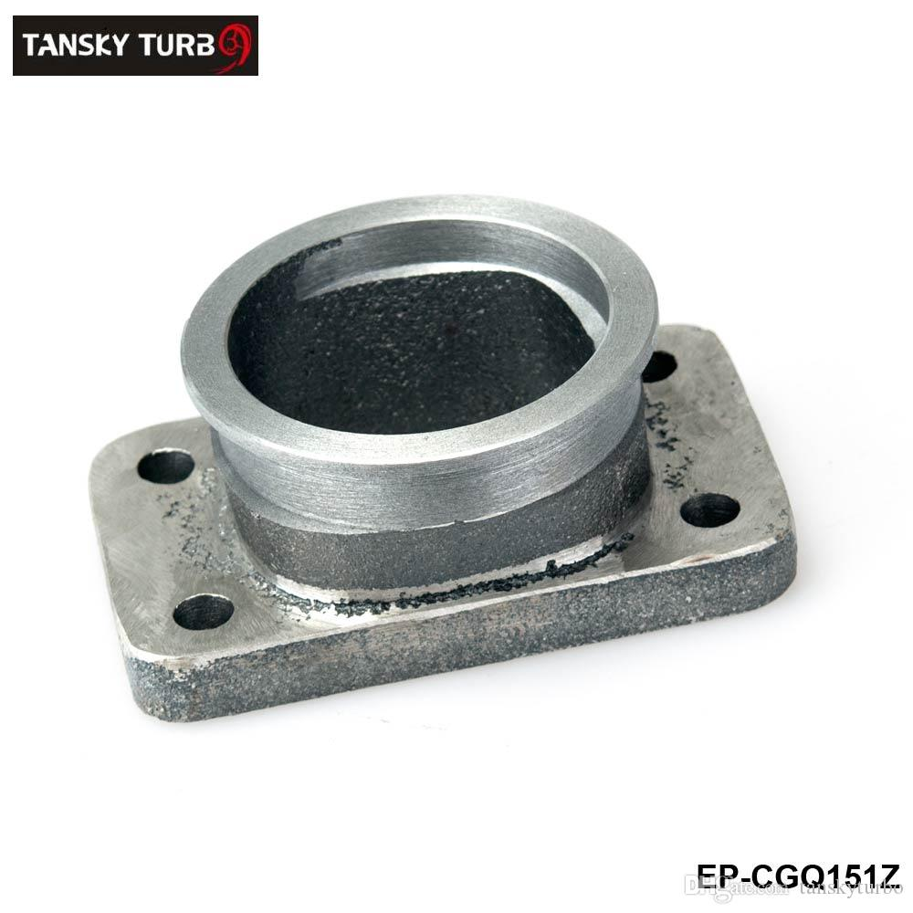 """TANSKY -Casting Iron Adaptor fit T3 4 Bolt Flagne To 2.5"""" V-Band Flange manifold turbo charger For Toyota Acura BMW EP-CGQ151Z"""