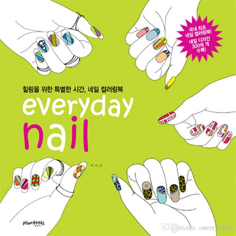 Everyday Nail Adult Colouring Books For Relieve Stress Graffiti