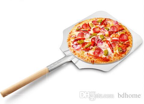 الجملة-شحن مجاني متعدد الأغراض العملي الألومنيوم ساحة البيتزا الفضة مجرفة مجرفة مجرفة كعكة تيبانياكي فرايد JE0064