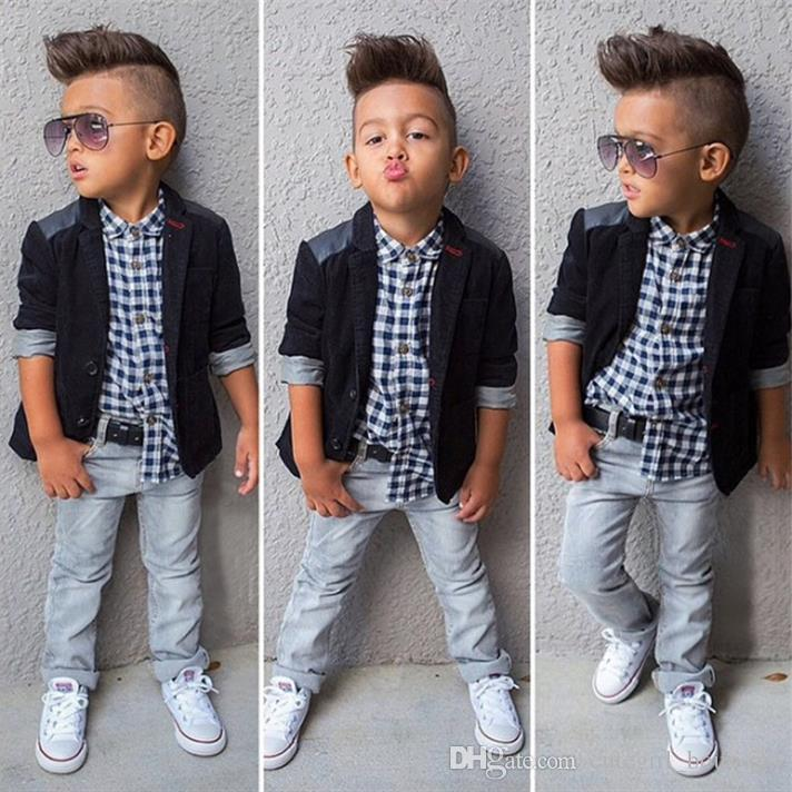 2a1d605595 2019 2 8 Yrs Children Clothing 2016 New Kids Boys Clothing Sets Coat Jacket  T Shirt Pants Fashion Sports Suit Sets From Cutegirl boutique