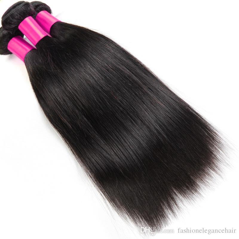 Capelli vergini brasiliani del tessuto 3 / capelli vergini brasiliani diritti capelli umani dei capelli umani vergini brasiliani non trattati