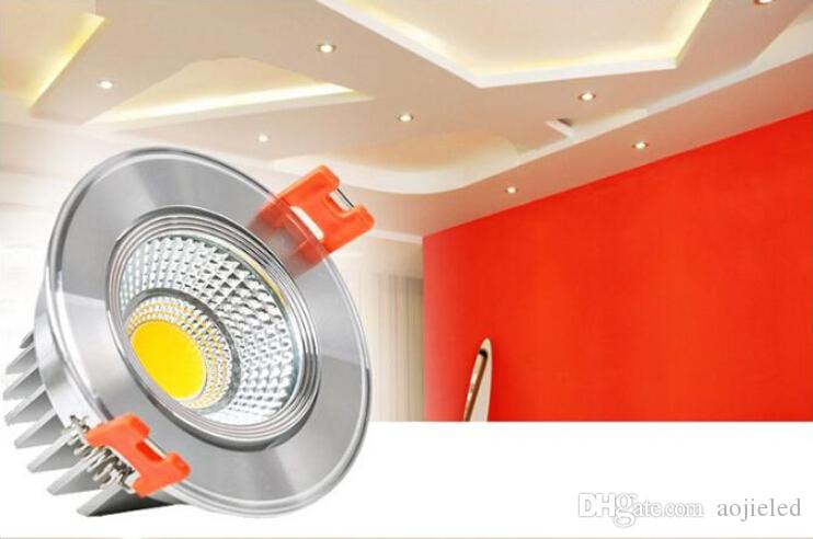 9W Dimmable COB lamp LED Down Light Recessed LED ceiling Lamp Warm White /Pure White/Cool White 2700~7500K For Home Led lamps