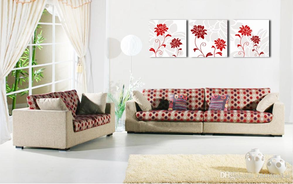 Home decoration unframed art picture Canvas Prints Abstract art oil painting fish flower woman peony Chrysanthemum