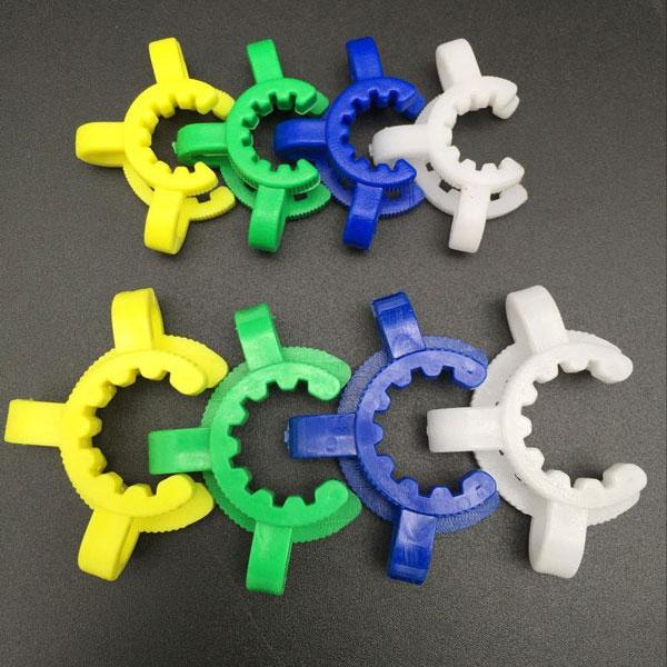 14mm 18mm plastic keck clip plastic clip clamp green white blue yellow joint for glass water bongs adapters glass adapter for water pipes